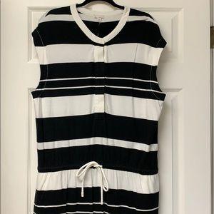 Gap Black & Cream Striped Dress